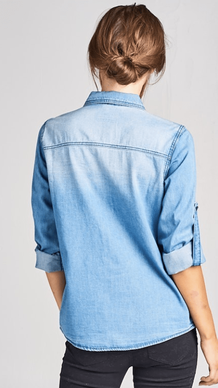 On The Lookout Denim Shirt - Preorder