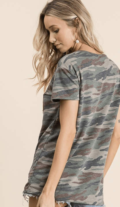 All You Need Camo Tee