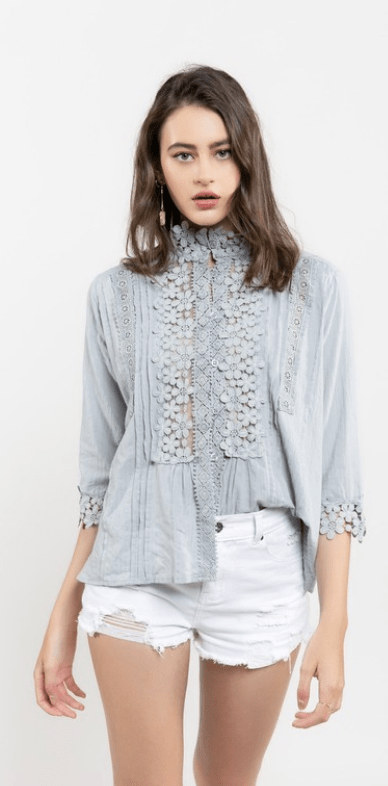 Lace and Grace Top - Preorder