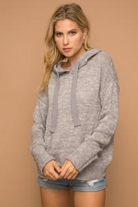 121 Grey Hooded Sweater