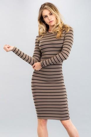 Bodycon Striped Dress