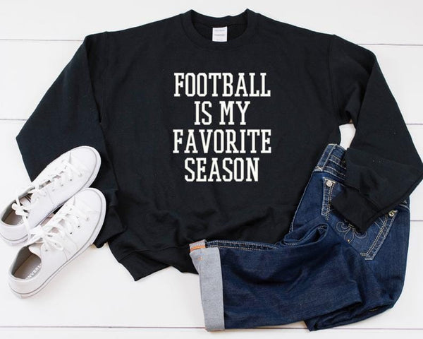 Football Is My Favorite Season Heavy Blend Crewneck Sweatshirt