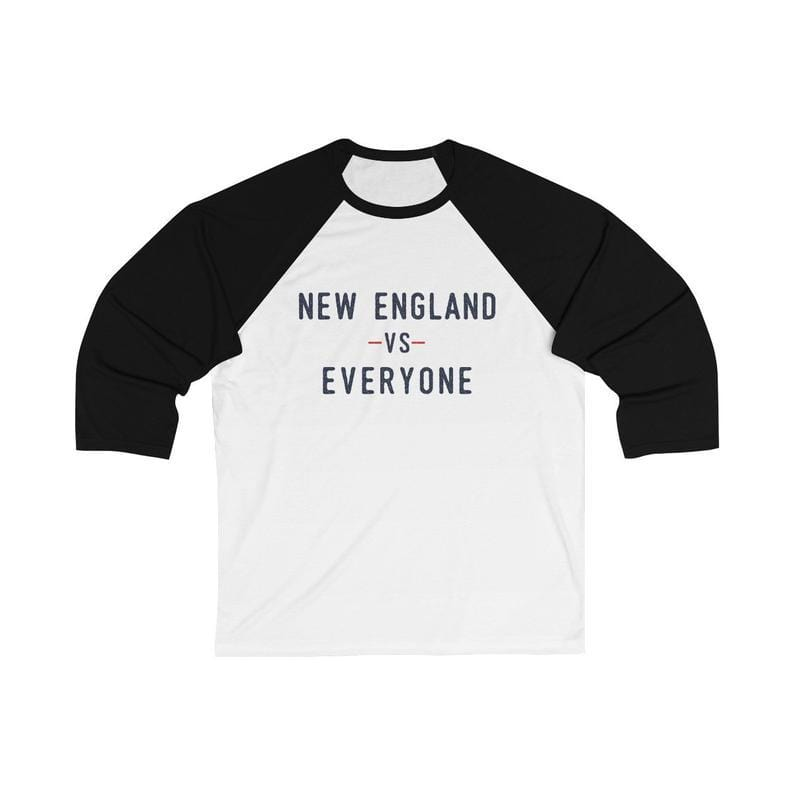 New England vs Everyone Unisex 3/4 Sleeve Baseball Tee