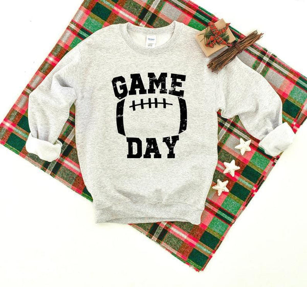 Game Day Football Distressed Sweatshirt