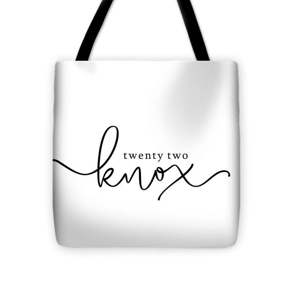 Twenty Two Knox Logo - Tote Bag