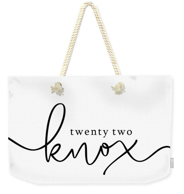 Twenty Two Knox Logo - Weekender Tote Bag