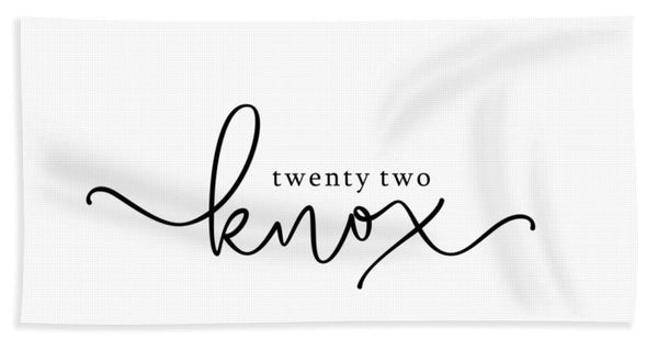 Twenty Two Knox Logo - Beach Towel