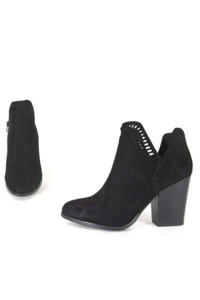 Grace Stacked Heel Booties - Final Sale