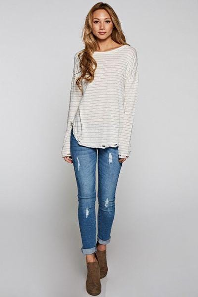 Grafton Distressed Long Sleeve