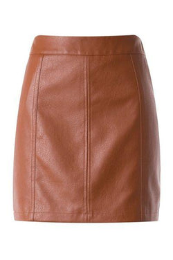 Let Me Love You Faux Leather Skirt