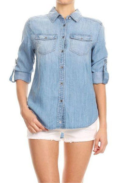 Denim Button Down - Final Sale