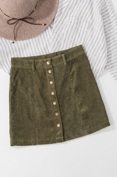 Brady Corduroy Mini Skirt