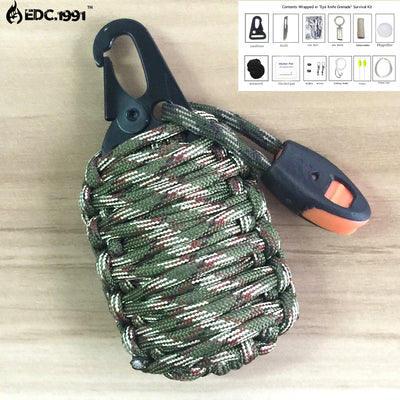 550 Paracord Emergency Kit For Key Chain, Backpack, Car, Life.