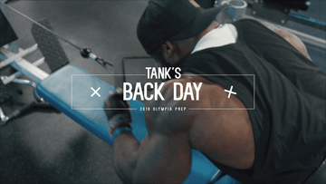 Tank's Raw Back Workout Preparing for the Olympia
