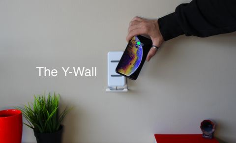 Phone wall dock,y-wall, ywall, y wall, y tricity, wi tricity, ytrcity, wireless chargers, wall mounted wireless charger, new wireless charger, iPone charger, iPhone wireless charger, Belkin, wtricity, w tricity, Chargeur sans fil, chargeur sans fil mural