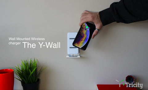 The Y-Wall, the worlds first wall mounted wireless charger
