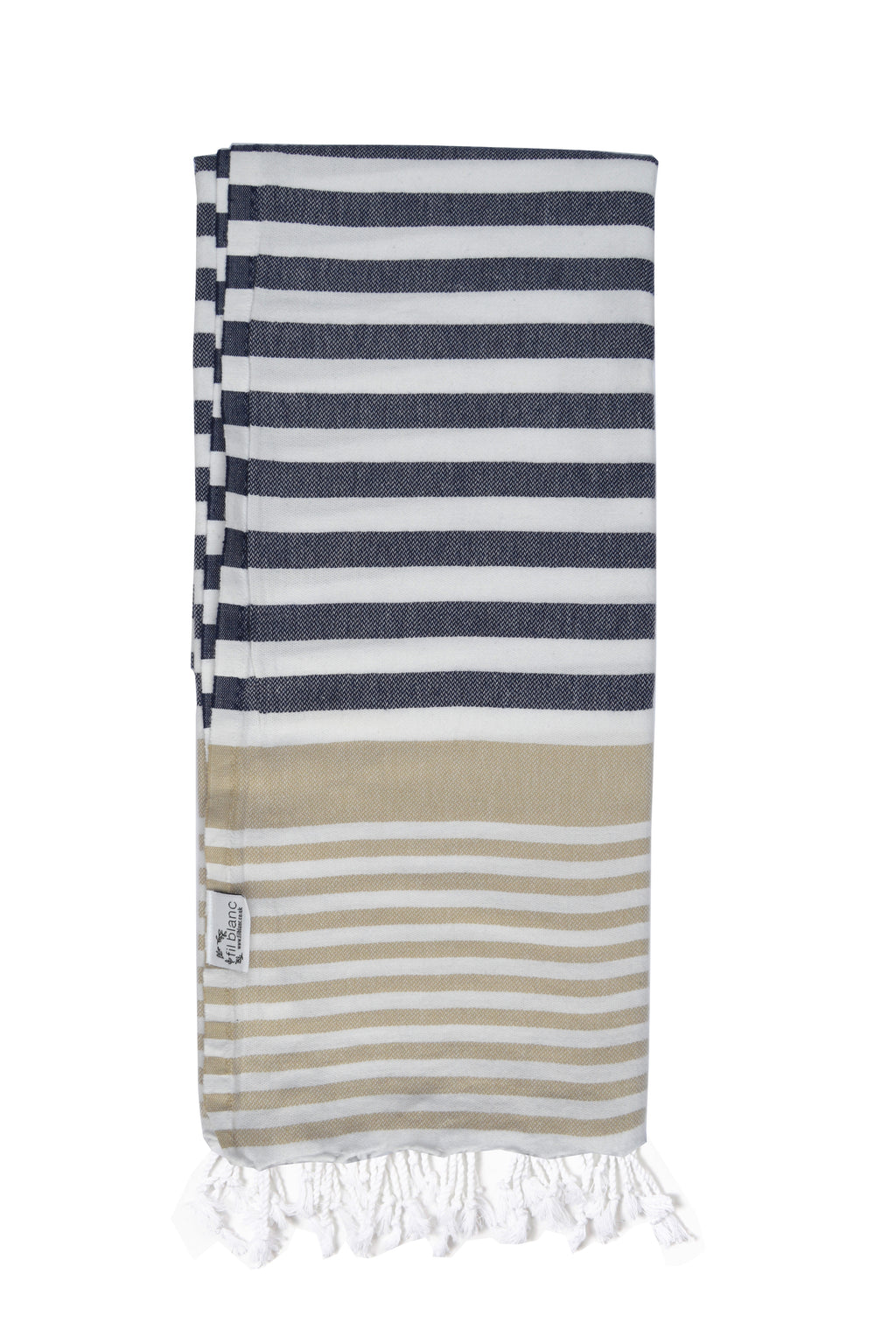 Multi Coloured Classic Hammam Towel-Navy