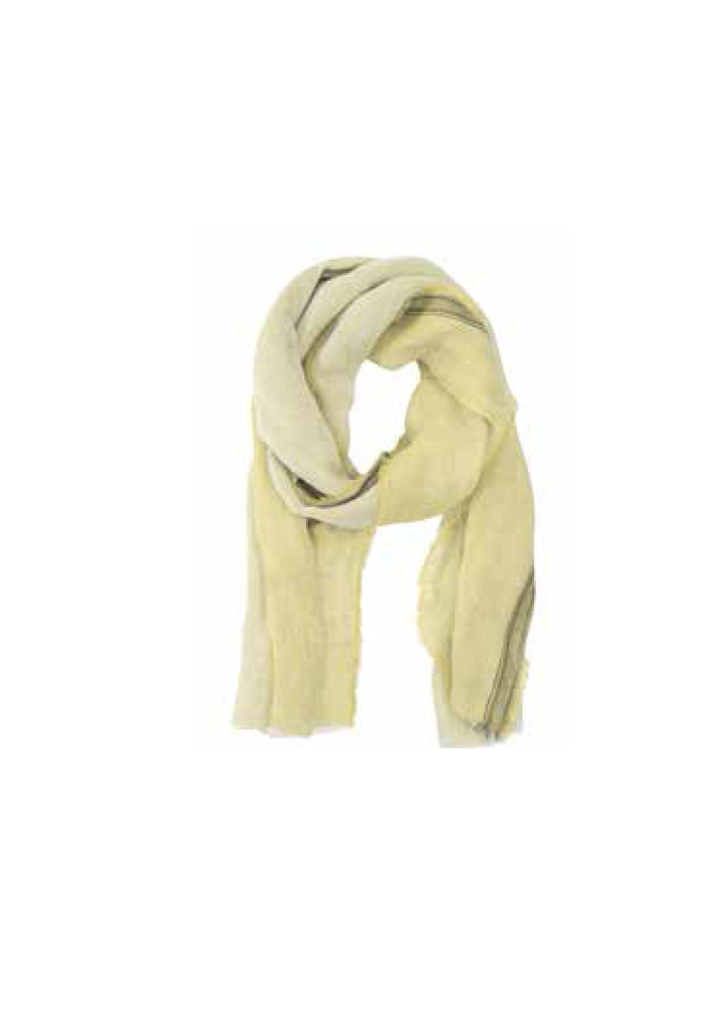 Linen Striped Scarf- French Vanilla