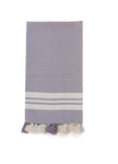 Turkish Hammam Hand Towel with Pom Poms