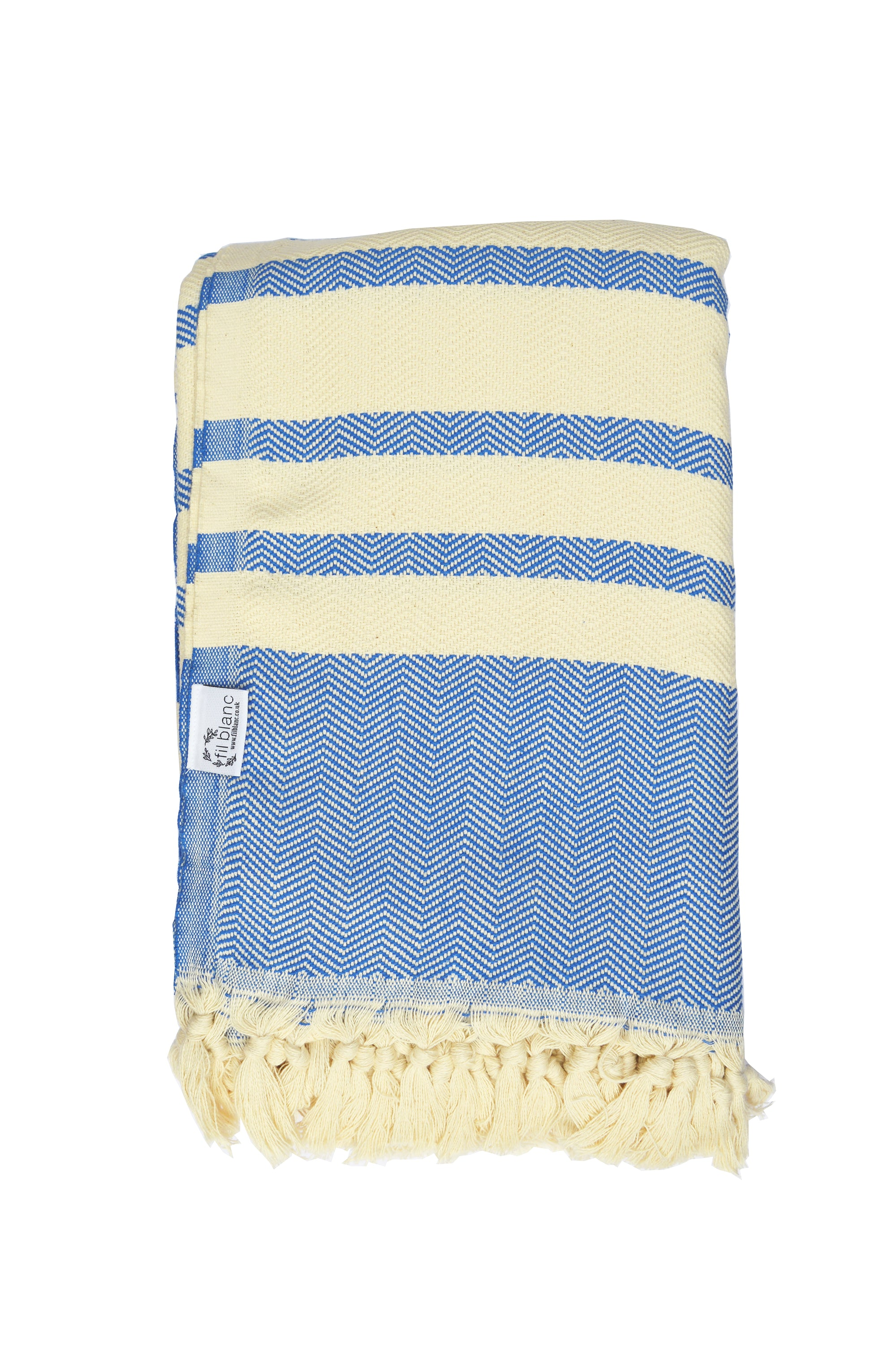 Turkish Striped Throw - Blue