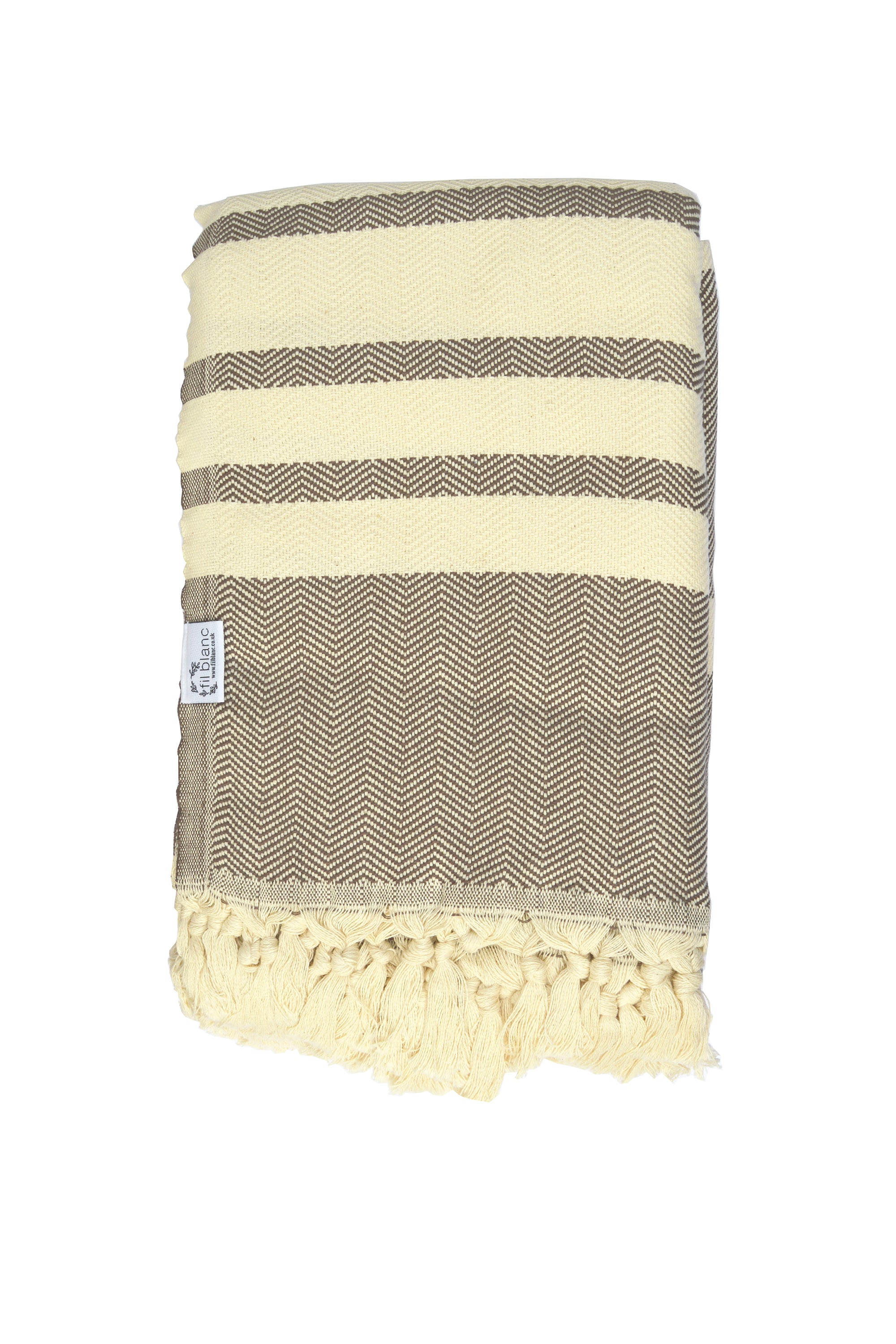 Turkish Striped Throw - Mocha