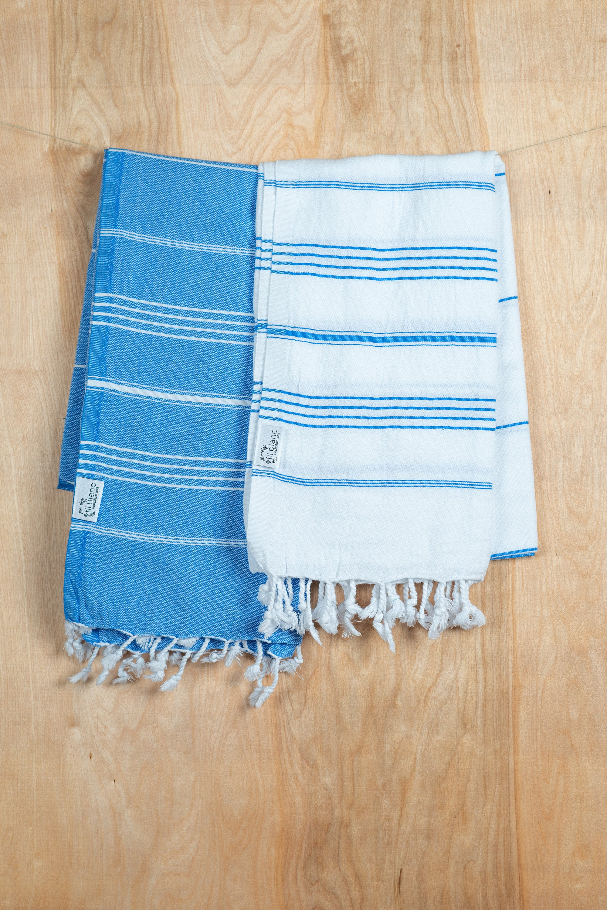 Blue and White Hammam Towel