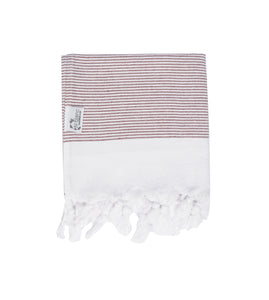 Turkish Hammam Hand Towel - Burgundy
