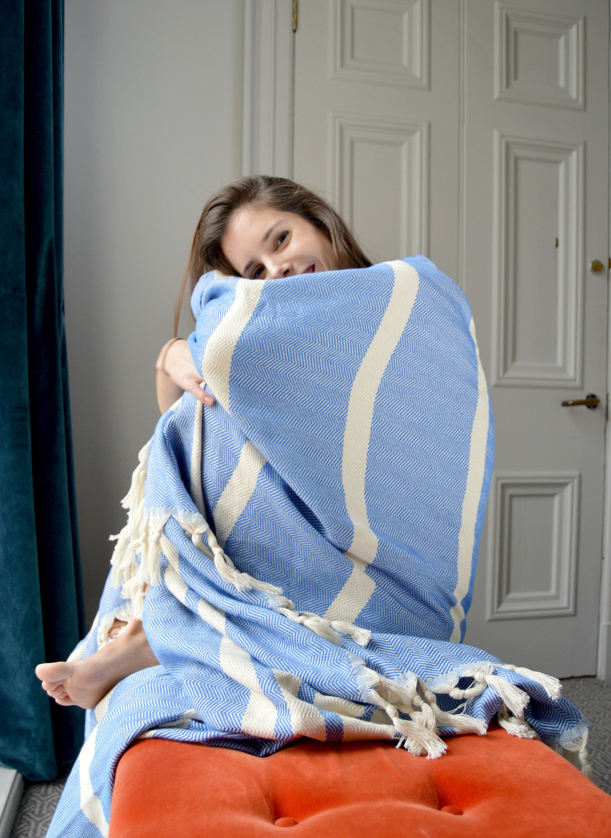 Turkish Natural Cotton Throw