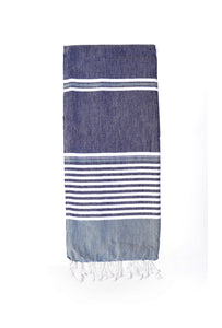 Hammam Beach Towel- Navy
