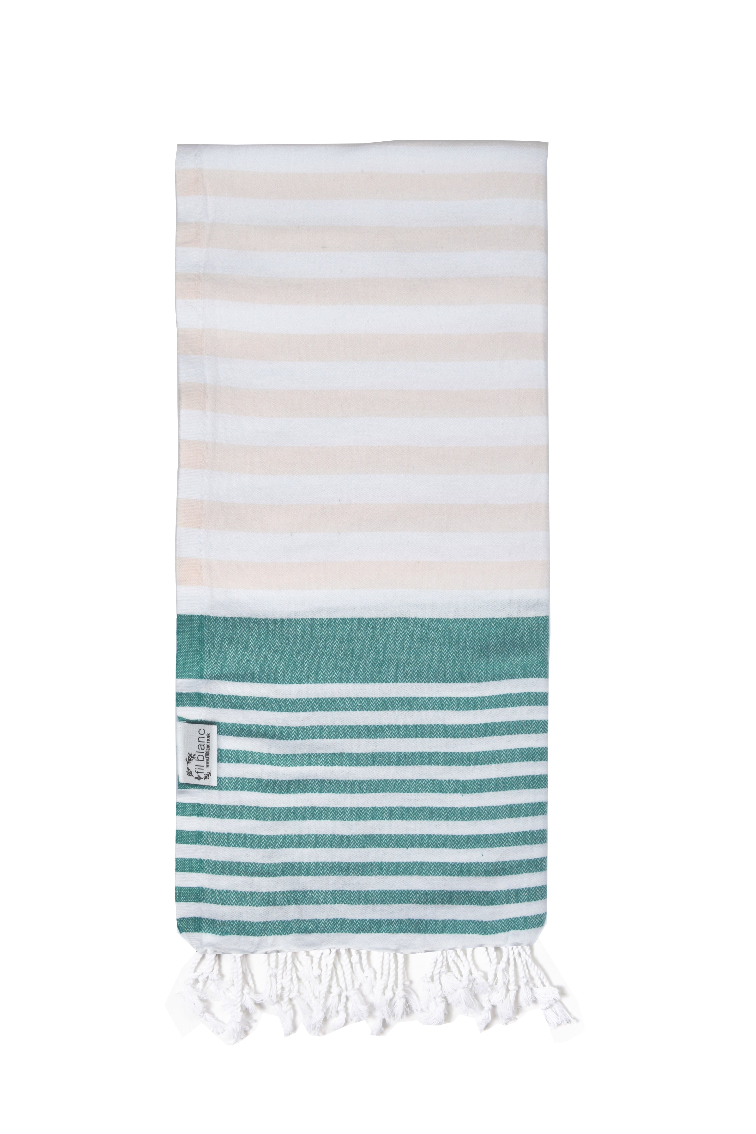 Multi Coloured Classic Hammam Towel- Baby Pink
