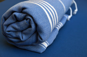 Blue Hammam Hand Towel