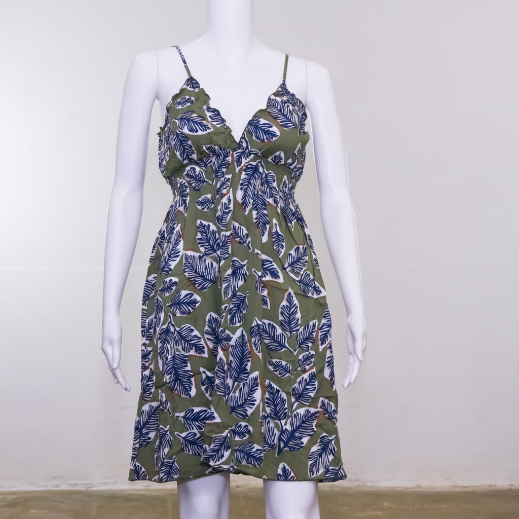 Julie Dress | Leaf Pattern