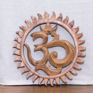 Om Wooden Plaque