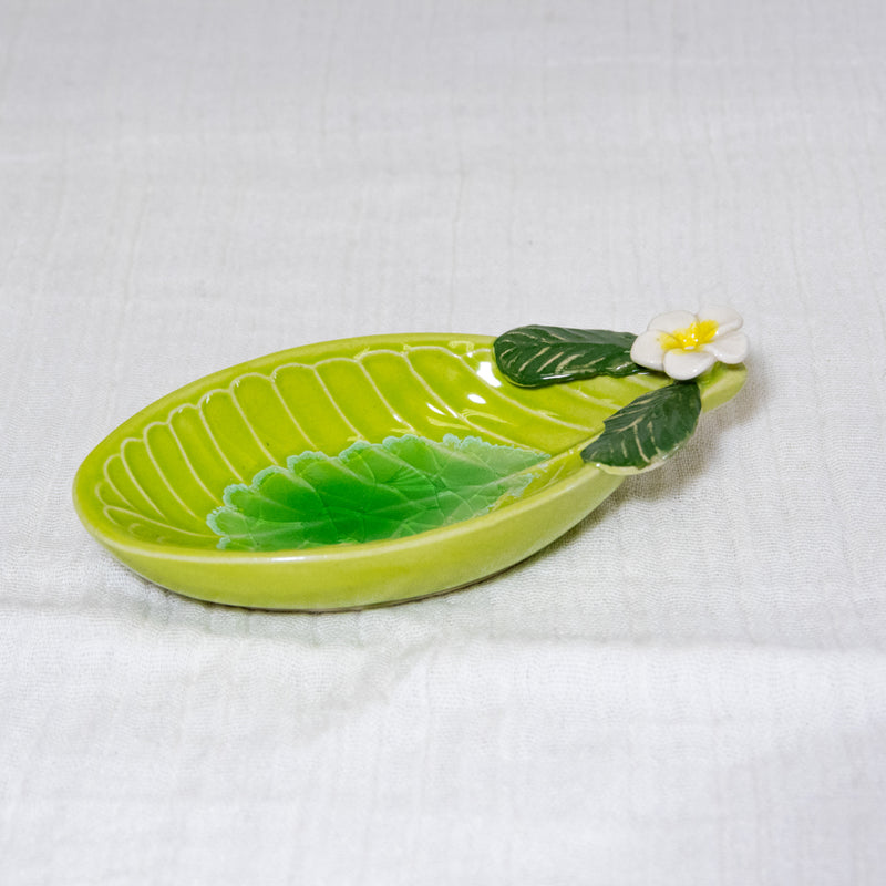Oval Ceramic Incense Holder | Flower