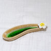 Curved Ceramic Incense Holder | Flower