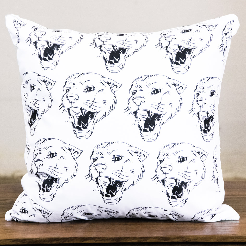 Rock Graphic Pillow Cover | Panther