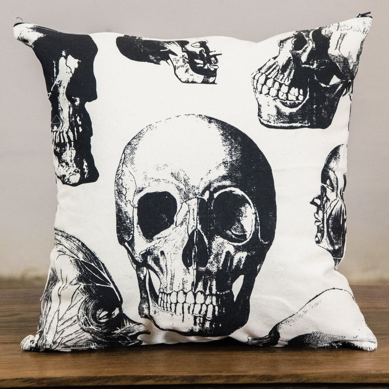 Rock Graphic Pillow Cover | Skull