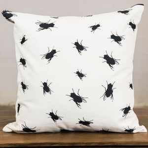 Rock Graphic Pillow Cover | Flies