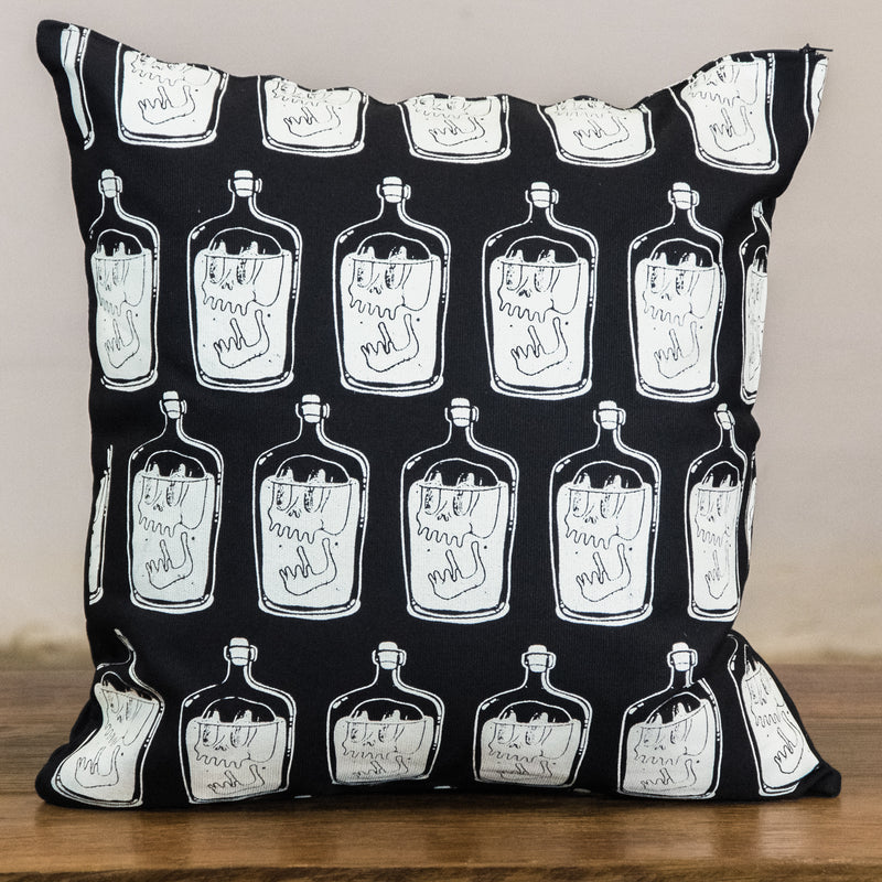 Rock Graphic Pillow Cover | Drunken Skull