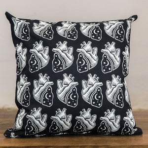 Rock Graphic Pillow Cover | Hearts