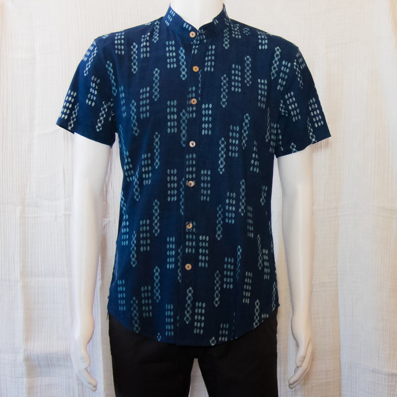Indigo Short Sleeve Shirts | Dots and Lines
