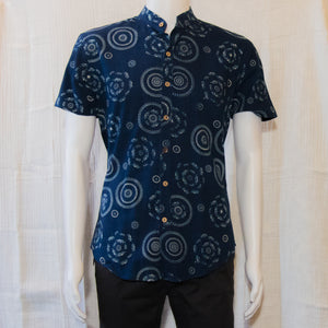 Indigo Short Sleeve Shirts | Doted Circles