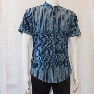 Indigo Short Sleeve Shirts | Lines Waves