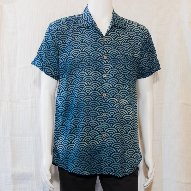 Indigo Short Sleeve Shirts | Waves
