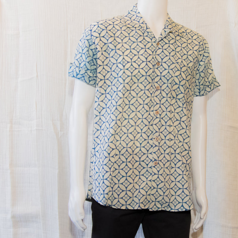 Indigo Short Sleeve Shirts | Seed of Life