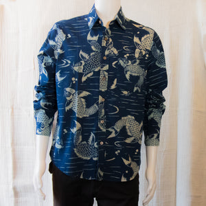 Indigo Long Sleeve Shirts | Coy Fish