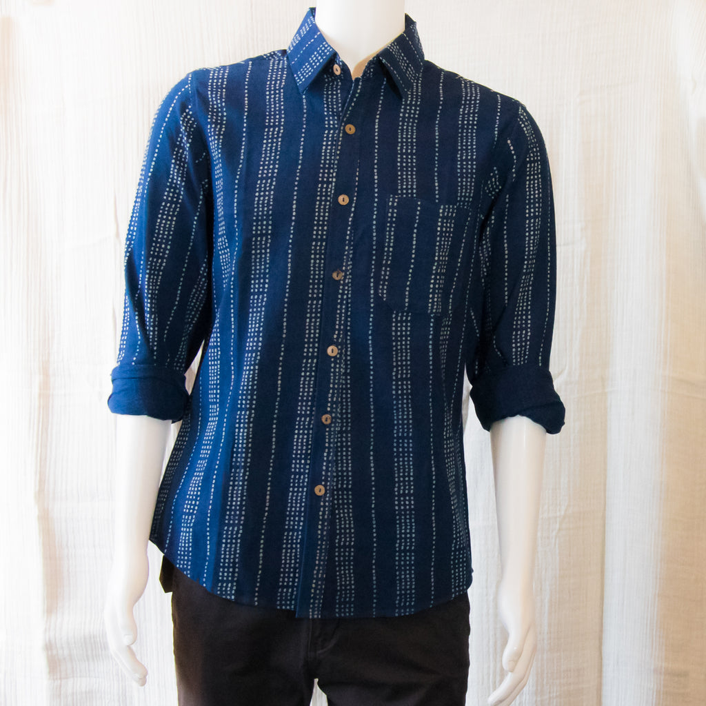 Indigo Long Sleeve Shirts | Dotted Lines