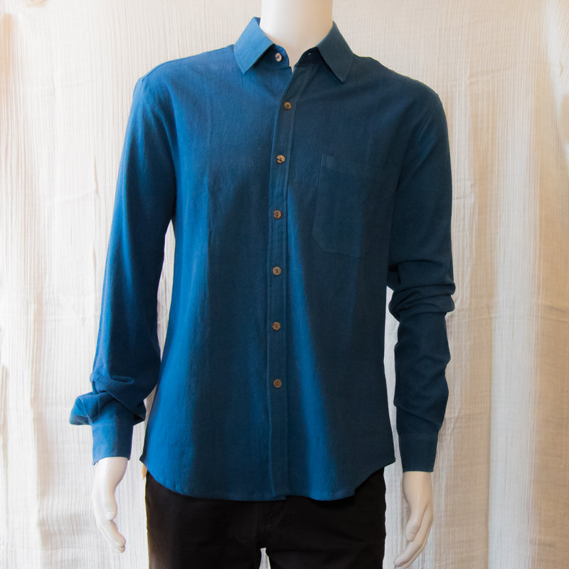 Indigo Long Sleeve Shirts | Light Indigo