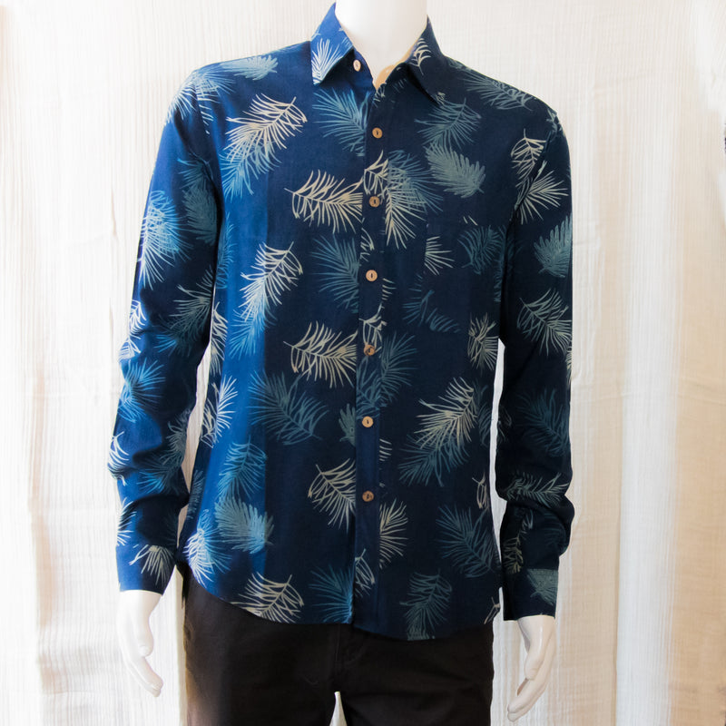 Indigo Long Sleeve Shirts | Leaves