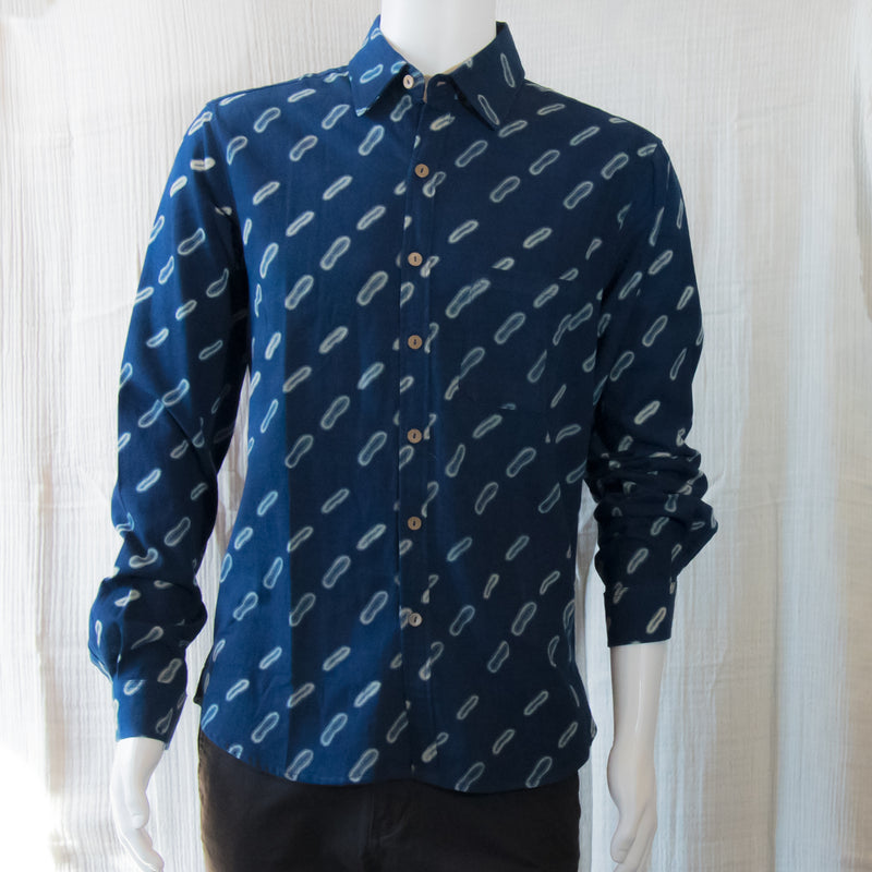 Indigo Long Sleeve Shirts | A